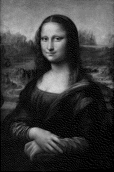 Mona Lisa in 1-bit Color