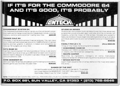 Entech Advertisement - Compute Dec 1983