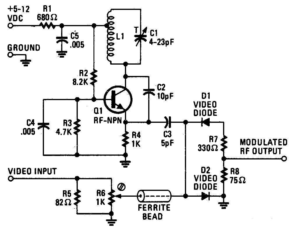 RF Modulator Schematic