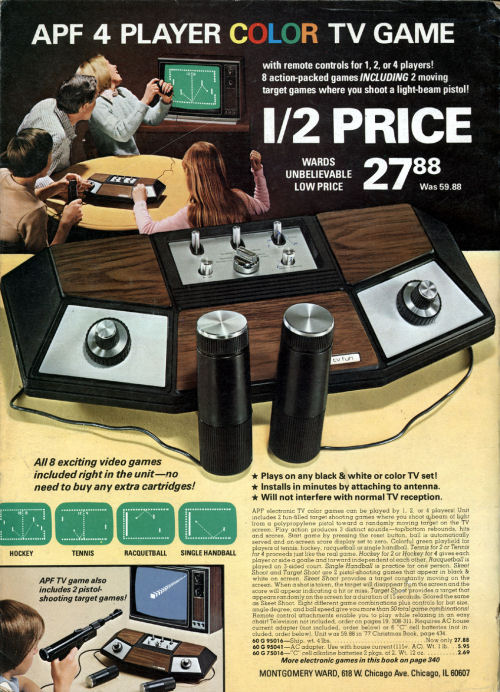 APF TV Fun Console in Montgomery Ward Catalog