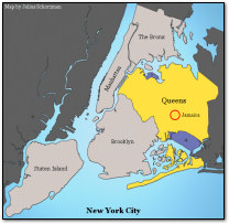 Jamaica, Queens, New York City Map