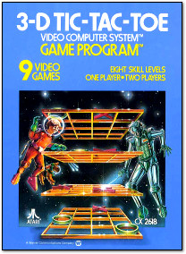 Atari 3D Tic-Tac-Toe Atari 2600 Box Art