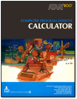 Atari 800 Atari Calculator Box Art