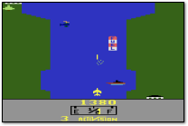 Activision River Raid Atari 2600 Screenshot