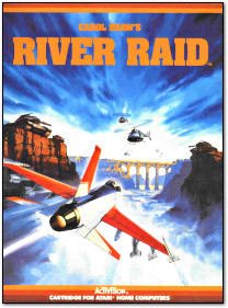 Activision River Raid for Atari 800 Box Art