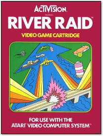 Activision River Raid Atari 2600 Box Art