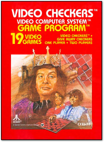 Atari Video Checkers Atari 2600 Box Art