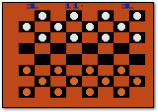 Atari Video Checkers Atari 2600 Screenshot