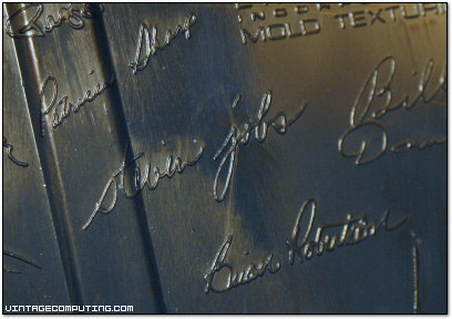 Steve Jobs Signature on Inside of Mac Plus Case