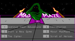 Madmaze Title Screen
