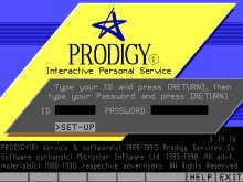 Prodigy Login Screen
