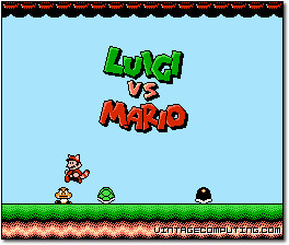 Luigi vs. Mario Title Screen