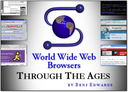 20 Years of the Web Browser - Web Browsers through the Ages