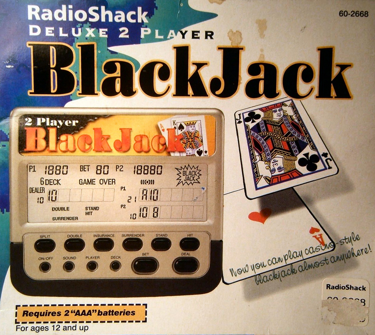 Radio Shack Deluxe 2-Player BlackJack