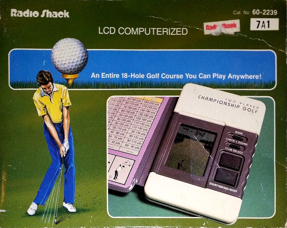 LCD Computerized 1 or 2 Player Championship Golf