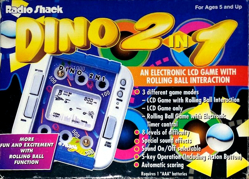 Radio Shack Dino 2 in 1 Electronic LCD Game