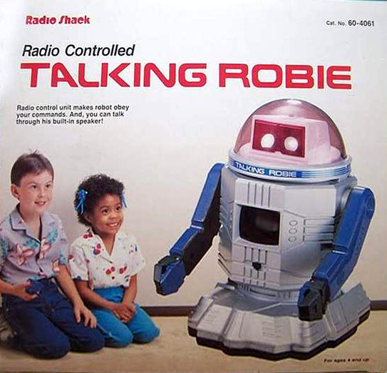 Radio Shack Talking Robie Robot