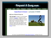 Request-A-Song.com Website circa 2002-2003