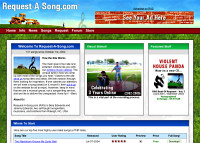 Request-A-Song.com Redesigned Website in 2004