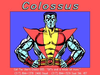Colossus X-Men Retro GIF