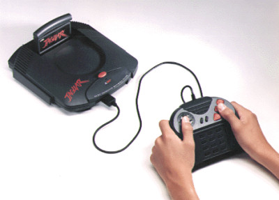Official Press Photo Atari Jaguar Console 1993 Retro GIF