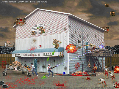 Doom II Office Fan Art 1996 Retro GIF