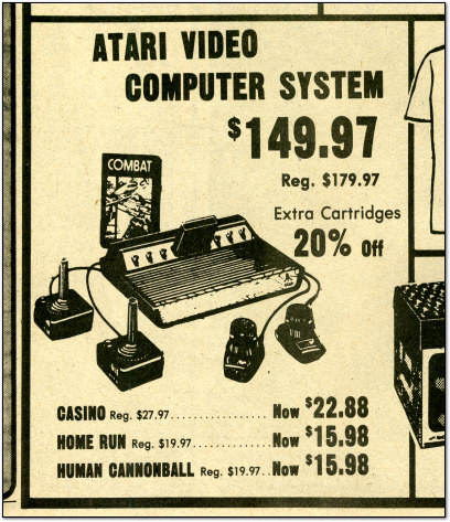 Atari 2600 Advertisement in Newspaper - 1981
