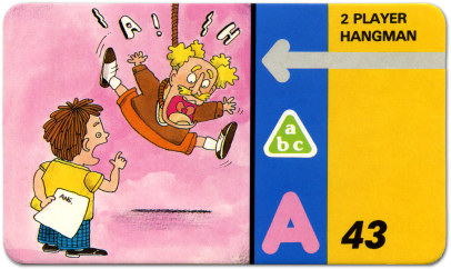 Talking Whiz-Kid 2 Player Hangman Program Card