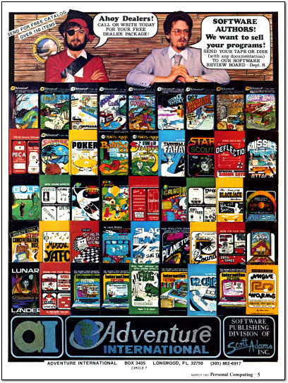 Scott Adams Adventure International Interactive Fiction Adventure Games Ad - 1981