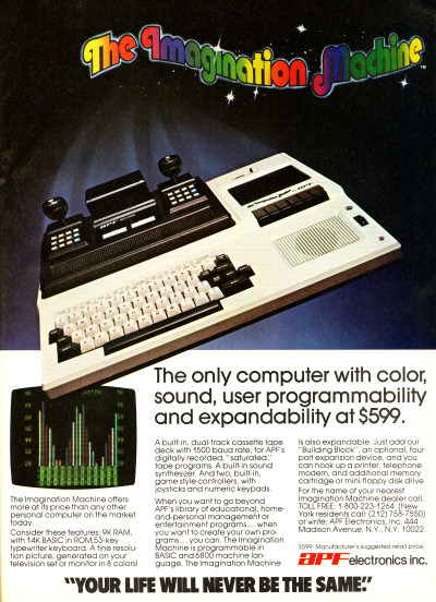 APF Imagination Machine APF-M1000 computer advertisement - 1980