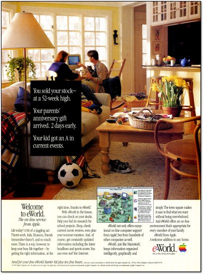 Apple eWorld Online Service Advertisement - 1995