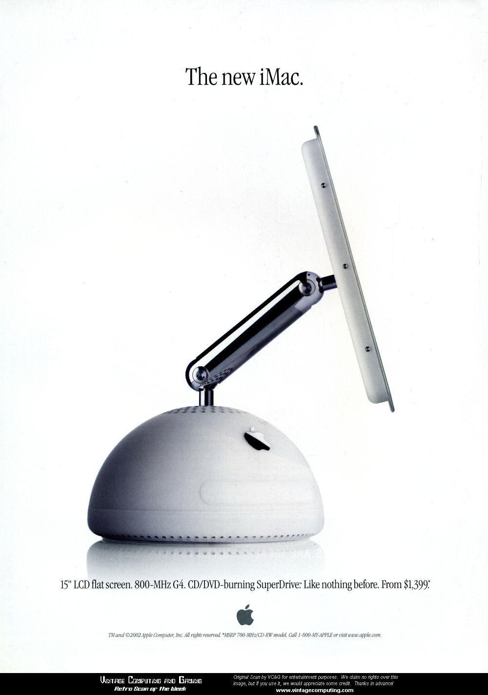 VC&G | » [ Retro Scan of the Week ] iMac G4 Memories