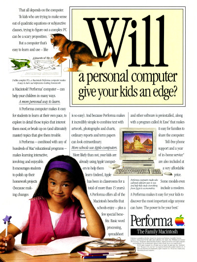 Apple Macintosh Performa The Family Macintosh Advertisement - 1993