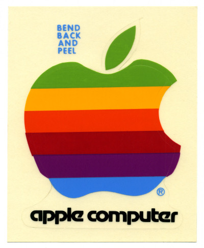 Apple Logo Sticker - circa 1983
