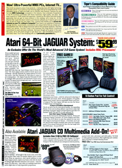 Atari Jaguar and Jaguar CD on Sale in TigerDirect Catalog - 1997