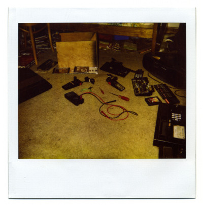 Benj Edwards bedroom floor in 1995 Colecovision Atari 5200 Polaroid Scan - 1995