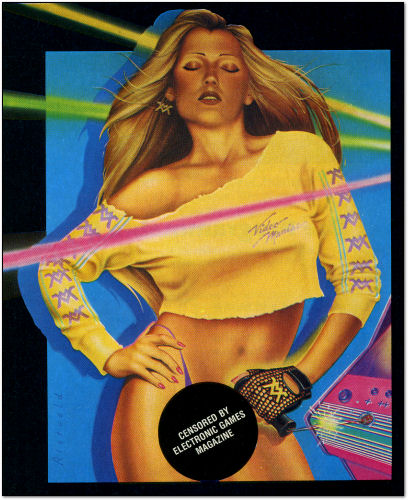 Video Maniac Poster Girl - Censored by Electronic Games Magazine