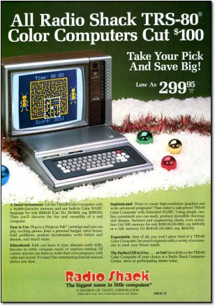 TRS-80 Color Computer Christmas Advertisement