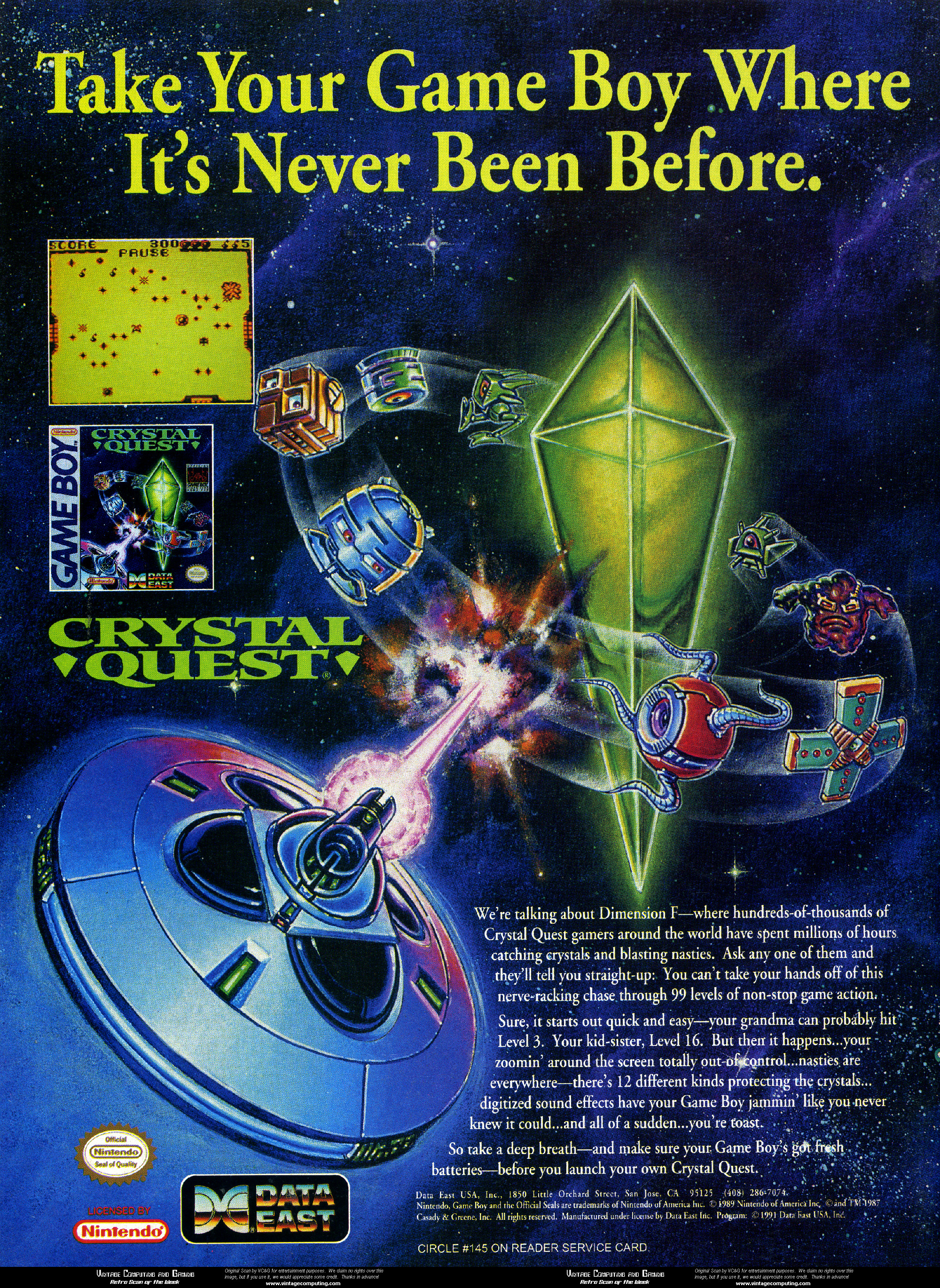 VC&G | » [ Retro Scan of the Week ] Crystal Quest for Game Boy