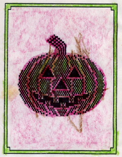 Personalized custom homemade Print Shop Halloween greeting card - circa 1984-85