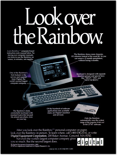 Digital Equipment Corporation DEC Rainbow Ad - 1983