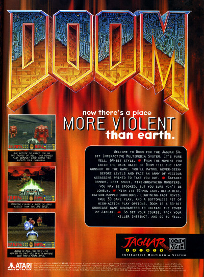id Software Doom for Atari Jaguar Ad Advertisement - 1994