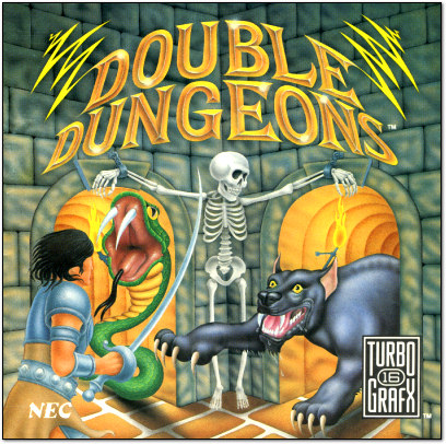 Double Dungeons - TurboGrafx-16 Cover Art