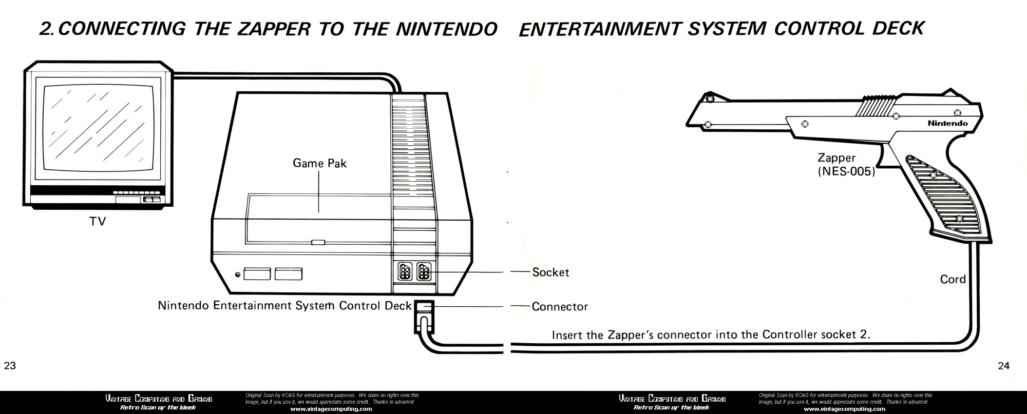 Vcg retro scan of the week the nes zapper diagram nintendo nes zapper diagram from super mario bros duck hunt instruction manual circa 1988 ccuart Images
