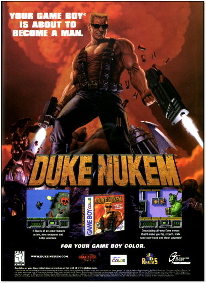 Duke Nukem for Game Boy Color Ad - 1999