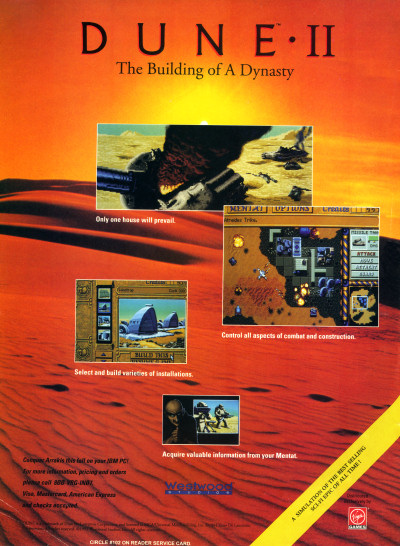 Dune II PC Game Advertisement Scan - 1992