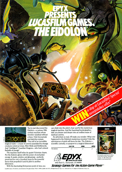 Lucasfilm Games The Eidolon Advertisement 1985