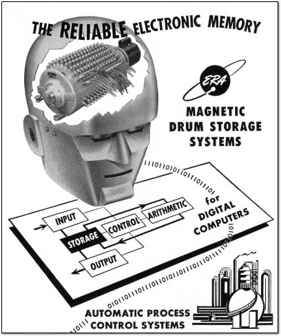 ERA Magnetic Drum Storage Systems - Computer Drum Memory Ad - 1953