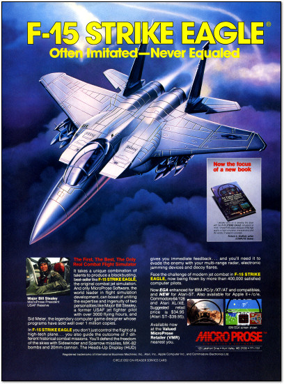 MicroProse F-15 Strike Eagle for Atari ST Ad - 1987