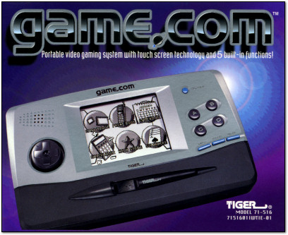 Tiger Game.com Manual Cover - 1997